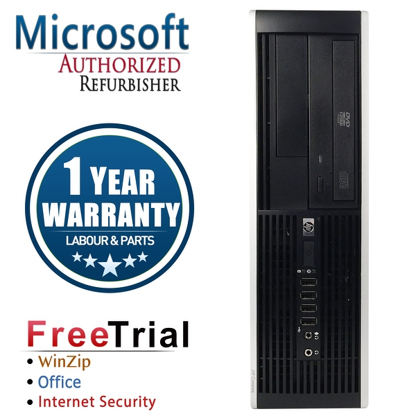 Refurbished HP Compaq DC5800 Small Form Factor Dual Core E5200 2.5G 4G DDR2 160G DVD WIN 10 Pro 64 1 Year Warranty - Silver