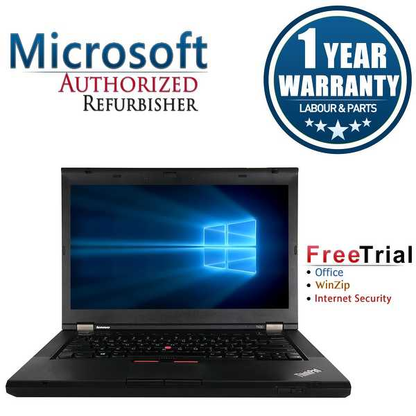 Refurbished Lenovo ThinkPad T430 14.0' Intel Core i5-3320M 2.6GHz 8GB DDR3 1 TB DVD Win 10 Pro 64 (1 Year Warranty) - Black